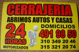 Cerrajeria  cel 311-5052789