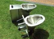 Ordenador de fila, banca en acero inoxidable , canecas reciclaje 3102359548