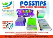 Notas adhesivas posstips personalizadas, corporativas y publicitarias