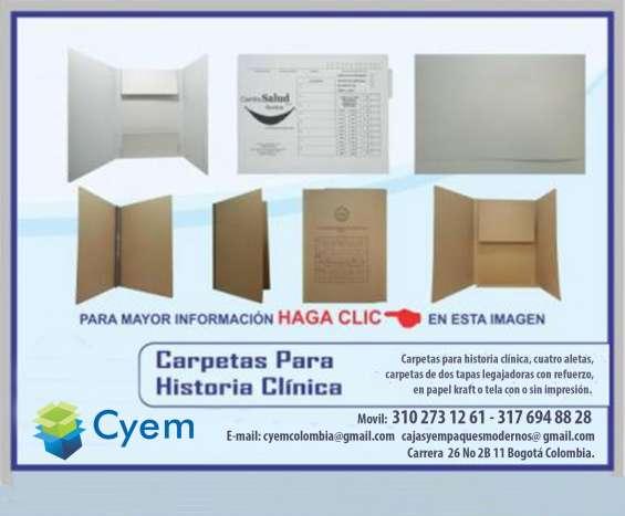 Carpetas para archivo general clinico, 4 aletas